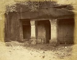 Entrance to Nagarjuna Kotri, Jain Rock-Cut Temple, Patan (Patna), Khandesh District